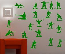 20 x Toy Soldiers army kids wall art sticker decal bedroom