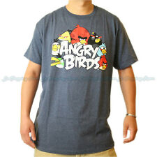 New Men's Licensed Angry Birds Gray Funny T-Shirt Fast Free USA Shipping