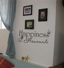 Happiness is Homemade Vinyl Wall Home Decor Decal Free & Fast Shipping 44 Colors