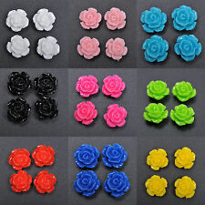 20pcs Gorgeous Rose Flower Stylish Coral Spacer Beads Fit Charm Bracelet 10mm