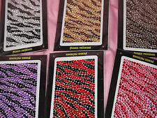 Zebra Stripes Self Adhesive Rhinestones Gemstones Scrapbook Laptop IPOD MP3 m206