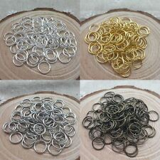 300pcs Silver/Gold Plated Open Metal Charm Jumping Rings Finding 2 sizes Choose