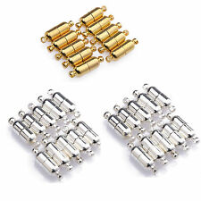 Charm 10 Sets Silver Plated/Gold Plated Oval Magnetic Clasps 19mm Connectors
