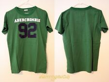 "Abercrombie Fitch DARK GREEN ""92"" A&F Mens Muscle T-Shirt Tee NWT Size S M XL"