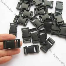 "10/50/100 pcs Small Black Plastic STRONG Quick Release Buckle For 1/2"" bags Belt"