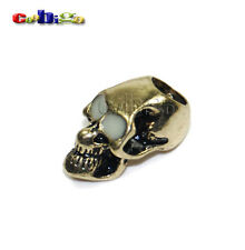 6X Single Vertical Hole Metal Skull Luminous Eyes For Paracord Knife Lanyards
