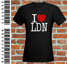 I LOVE LDN -  LADIES FITTED T-SHIRT - ALL SIZES + COLS (NY Heart USA London)