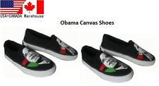 Women's obama canvas shoes casual run black Sneakers