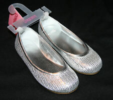 Gymboree FESTIVE HOLIDAY Sequin Silver Ballet Shoes NWT
