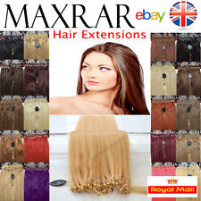 "25 - 400 MICRO LOOP REMY HUMAN HAIR EXTENSIONS 18"" ( ring stick u tip bonded )"