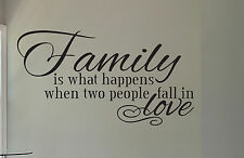 FAMILY Is What Happens... Fall In Love Wall Decal Vinyl Sticker Art
