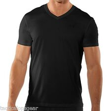 Under Armour Tactical Heatgear UA Original Fitted V Neck Black T Shirt 1230361