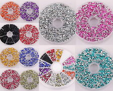 12 Colors 20g(1500pcs) Charm Acrylic Rhinestone Bicone Beads 3*2mm For DIY Craft