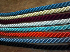 """VINTAGE TWISTED RAYON CORD 1/4"""" Made in Japan Dyeable CORDING 3 yds Doll Hair"""