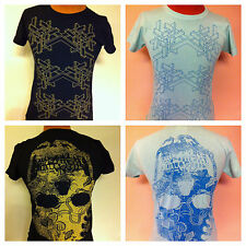 Womens Evil Genius Graphic Tee Usidpe Down Skull NEW Medium