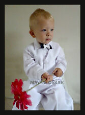 Baby Boy White 4 Piece Outfit Smart Suit Bow Wedding Christening Formal Party