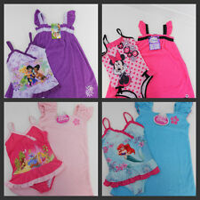 New Disney Swimsuit & Matching Cover Up Princess Fairies Minnie Mouse 3T 4T 6