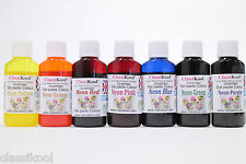 ANY 1, 3, 5 OR 7, 30g NEON GEL FOOD PASTE COLOURING ICING SUGARPASTE COLOURS