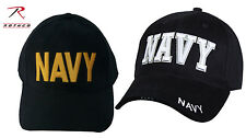 NAVY Ball Cap DELUXE LOW PROFILE Hat Embroidered  NAVY BLUE  in Gold or White