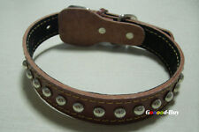 Pet Dog Puppy Leather Studs Spiked Tough Collar Small Medium Large S M L size