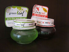 Green Leaf Pure Aloe Vera, Hibiscus Jaswand Gel Pure Natural 125 g Lot of 1 & 3