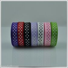 """1 roll of 3/8"""" 9mm x 5 yards Grosgrain Polka Dot Color Ribbon  Craft Gift Wrap"""