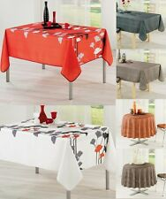 Stain Resistant Extra Large Fabric Tablecloth Round & Rectangular 8-10 seater