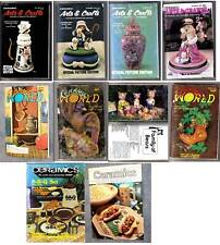 Old Ceramic World, Arts & Crafts, Ceramics Magazines,1976-1990 Choice of Issues