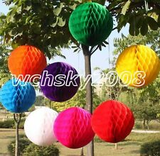 Multicolor Honeycomb Ball Paper Lanterns Wedding Birthday Xmas Party Decorations