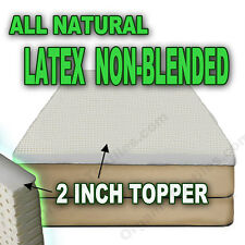 100% Natural Latex Mattress Topper 2 inches - Twin XL