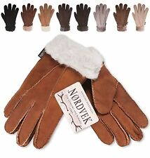 Nordvek Premium 100% Genuine Sheepskin Ladies Womens Fur Cuff Gloves NWT 301-100