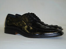 Bolano 6270-000 Mens Oxfords Dress Shoes Rich Black Exotic Croco Print