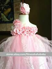 Tutu Dress, Pretty n Pink Matching Headband.great for weddings special occasions