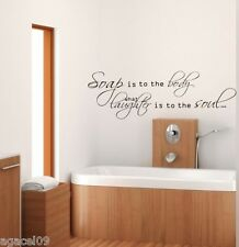 TOILET BATHROOM HOME WALL QUOTE VINYL DECOR STICKER LARGE STENCIL MURAL GRAPHIC