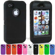 Heavy Duty Defender Shock Proof Builders Workman Case Cover for iPhone 4 4S