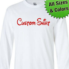 Custom Disney Style LONG SLEEVE T-Shirt - Personalized Text - All Sizes Colors