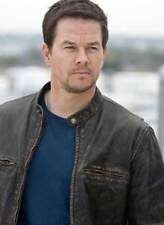 Contraband Mark Wahlberg's Movie Mens Faded Brown REAL Leather Jacket