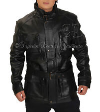 "Movie The Dark Knight Rises ""BANE"" GENIUNE Cow hide Black Leather Jacket"