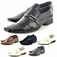 New Mens Black  Italian Style Formal / Wedding Slip on Shoes In UK Sizes  6-11