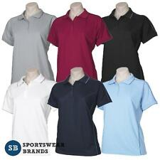 Ladies Resort Style Polo Shirt Top Office Business Casual Sports Size 8-24 P9925