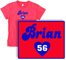 BRIAN heart CUSHING Womens RED T-SHIRT Houston Texans -all sizes! toddler to XL