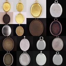 Wholesale Oval Picture Photo Frame Cabochon Bead Pendant Charms Jewelry Findings
