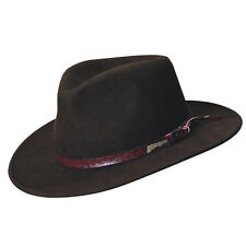 Indiana Jones Crushable Wool Felt Outback Hat with Tails