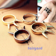 Fashion Retro Cool Rock Punk Gothic Style Spike Rivet Ring 4 Colors Rings