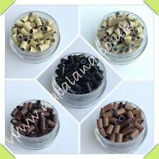 Silicone Micro Rings Loops Copper Links Mini Hair Extensions Stick Tip 0.5 1g
