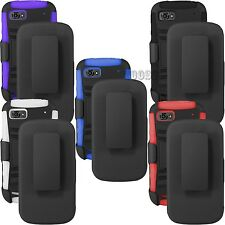 3 IN 1 BELT CLIP HEAVY DUTY CASE HOLSTER COVER KICKSTAND ZTE WARP 2 SEQUENT N861