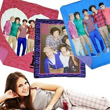 One Direction 1D Fleece Plush 50X60 Throw 2 Ply Cuddle Blankets - In 3 Styles