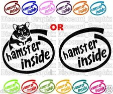 HAMSTER INSIDE VINYL DECAL OR MATCHING PAIR PET SOUL STYLE STICKER ( fits kia )