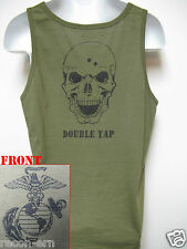 USMC TANK TOP/ DOUBLE TAP/ MILITARY/ OD GREEN / NEW