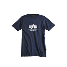 Alpha Industries BASIC T-Shirt, blau, S, M, L, XL, XXL, XXXL, 4XL, 5XL,100501